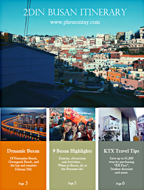 Free Busan 2D1N itinerary to download