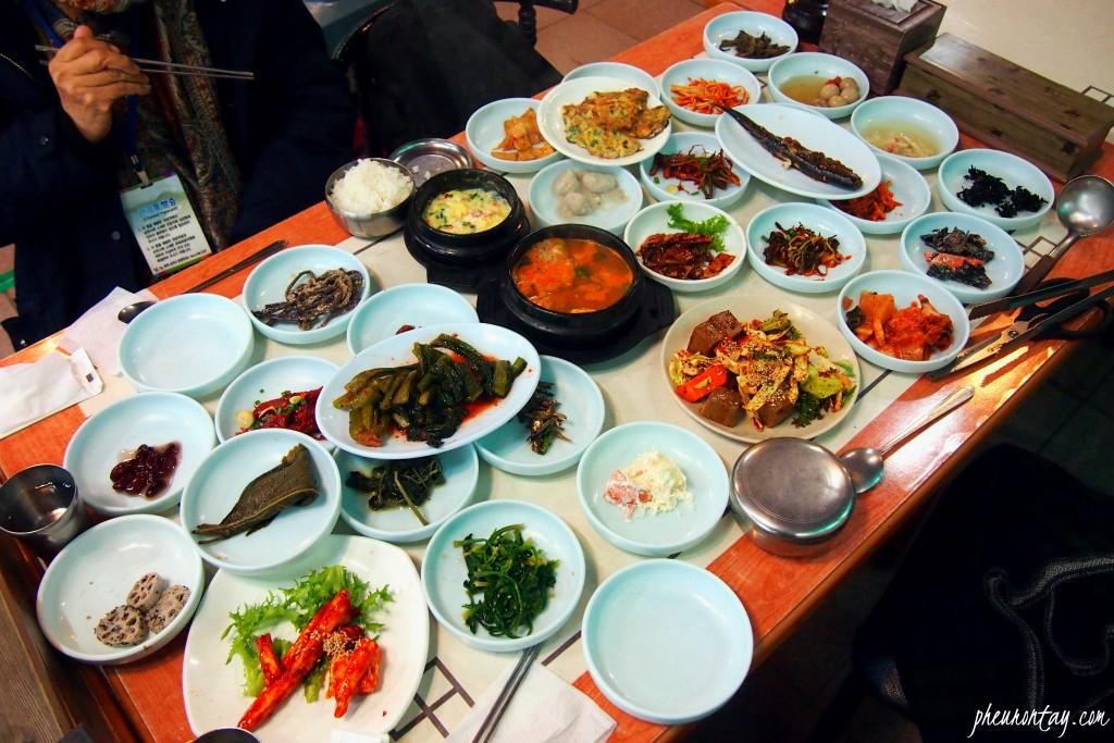 선암식당 산채정식 suncheon wild vegetables full course meal