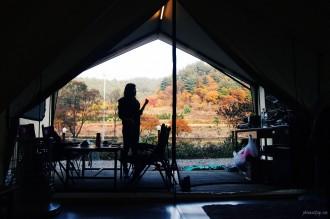 glamping in Korea, gapyeong